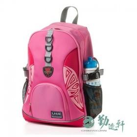 特賣+送杯套【UnMe】高年級圖騰風休閒後背書包 (粉紅色)