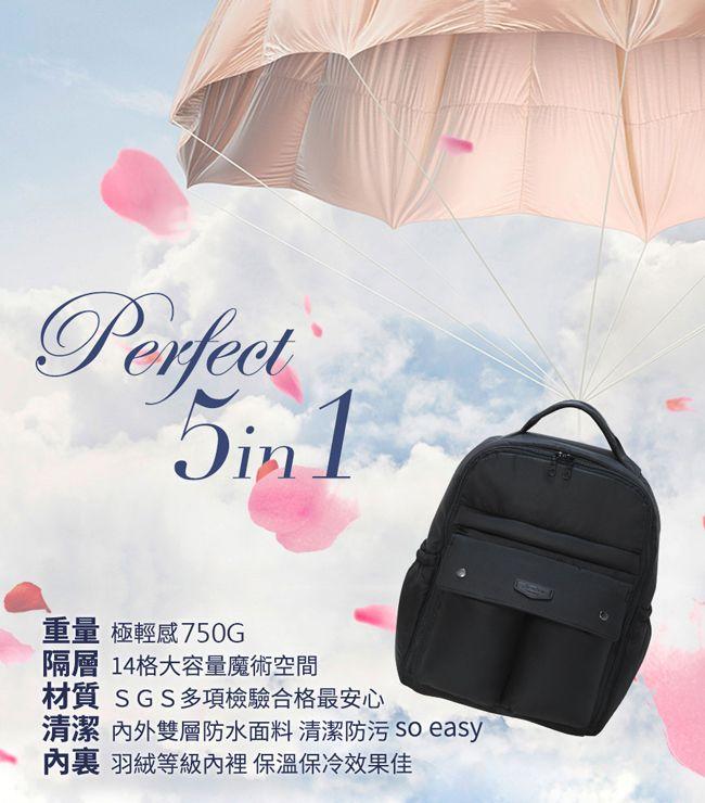特賣【Hana Bene】花花班尼 極輕感 大後背 全開式14格層防潑水空氣包-2件組-