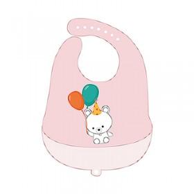 【特賣】芽比兔矽膠肚兜-可愛熊(粉紅)