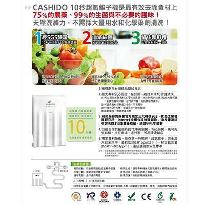 CASHIDO超氧離子蔬果清洗裝置十秒機外掛式