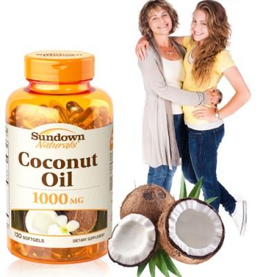 【滿額送B群】《Sundown》頂級椰子油軟膠囊(120粒/瓶)