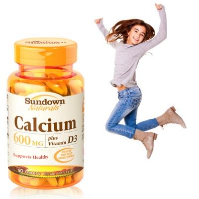 《Sundown》高單位鈣600mg PLUS D3錠(60錠/瓶)