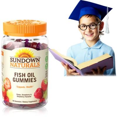 【特賣】《Sundown》兒童精明魚油QQ軟糖 (50粒/瓶)