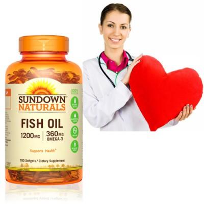 【運動會-限時下殺75折】《Sundown》天然精萃深海魚油1200mg(100粒/瓶)