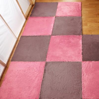 【HomeBeauty】隨心拼接珍珠絨地墊-30X30公分-8入-九色可選