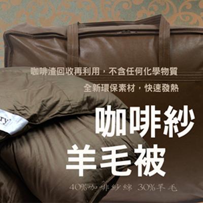 【雅倫家飾】JEAN PERRY~雙人咖啡紗羊毛被6X7