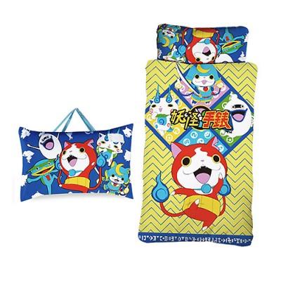 【開學午安被45折】幼教兒童睡袋 妖怪手怪吉胖喵二用-武士慶典篇