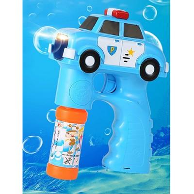 【年度熱銷特惠】兒童玩具電動聲光音樂警車泡泡槍附贈泡泡水
