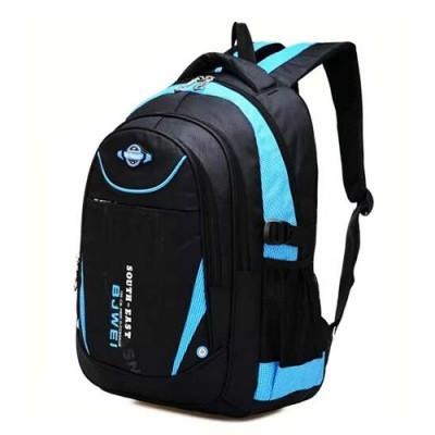 【開學用品特企】時尚兒童減壓雙肩後背書包(藍)