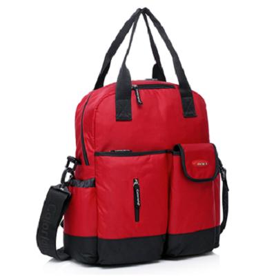 Colorland 全新改良款 大容量媽媽包 贈防雨罩 - 紅色