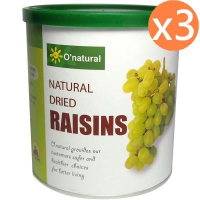 歐納丘美國加州天然無籽葡萄乾 (360g*3罐)