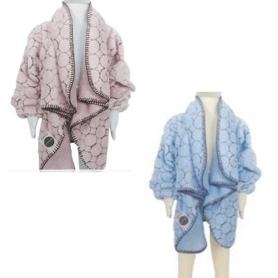 美國 Babymoon 寶貝保暖袖毯(圈圈粉/圈圈藍)共二色