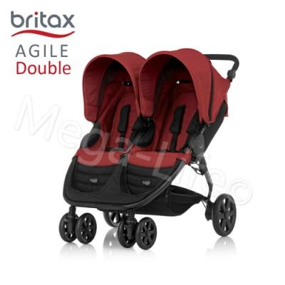 Britax-Agile Double單手收豪華雙人手推車(紅)