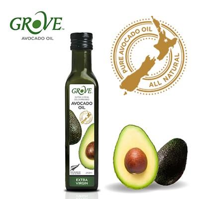 【限時特賣】紐西蘭Grove葛洛芙 冷壓初榨酪梨油系列-EXTRA VIRGIN 原味 (250ml)