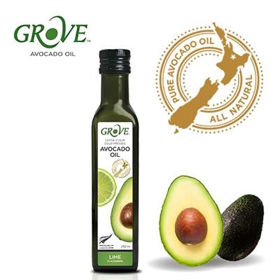 【限時特賣】紐西蘭Grove葛洛芙 冷壓初榨酪梨油系列- Lime萊姆風味 (250ml)