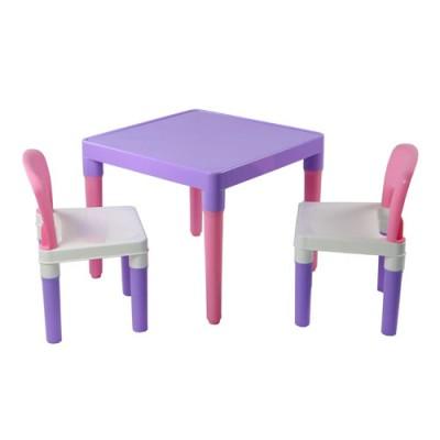 【促銷88折】☆ DELSUN ☆ [DELSUN 7901P] 兒童桌椅組 粉紫 塑膠 DIY組合 多功能 台灣製造