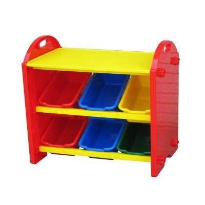 【促銷9折】DELSUN 兒童積木收納架(8699) 玩具收納 雜物收納 塑膠收納架 多功能 DIY 台灣製造 安檢