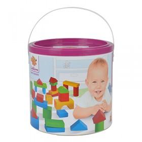 特賣【德國EICHHORN】彩色積木寶貝桶50PCS(積木加大到4CM)