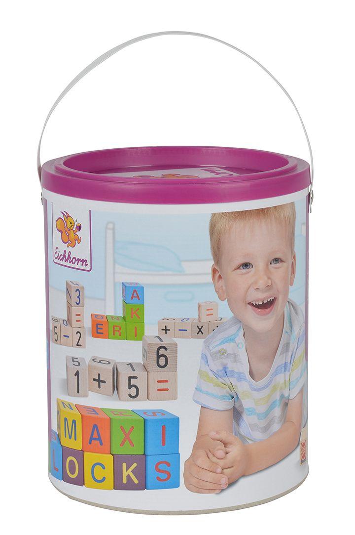 特賣【德國EICHHORN】歡樂彩裝字母積木桶 40PCS