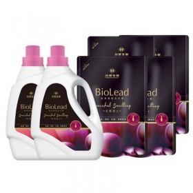 【買就送洗髮精隨身包】【台塑生醫】BioLead經典香氛洗衣精 紅粉佳人(2瓶+4包)