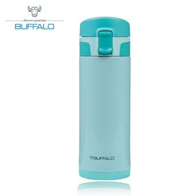 【牛頭牌 BUFFALO 】彈蓋保溫瓶 350ml (304不鏽鋼) 藍