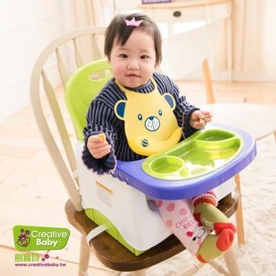 美國Creative Baby 創寶貝攜帶式輔助小餐椅 蘋果綠(Booster Seat)