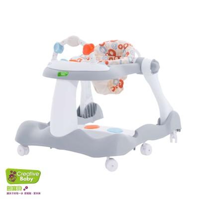 【特賣9折】美國Creative Baby 創寶貝經典版-多功能音樂折疊式三合一學步車/助步車-再贈尿布