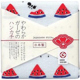 [日本熱銷款]  日本進口極細緻親肌純棉紗巾:15-西瓜