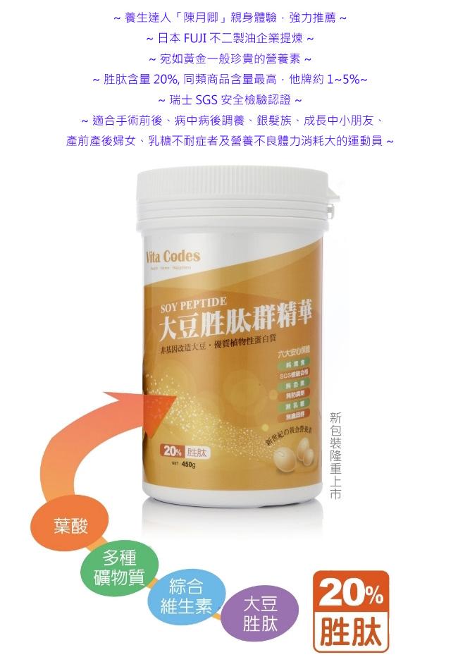 特賣【Vita Codes】大豆胜(月太)群精華罐裝 陳月卿推薦