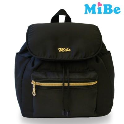 【MiBe】輕量空氣小束口背包Baby Melody-黑炫風X金