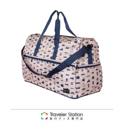 【 HAPI+TAS】交通運輸摺疊旅行袋(大)-米色