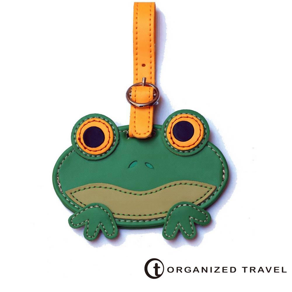 【OT 旅遊配件】可愛動物系列 行李箱吊牌(青蛙)
